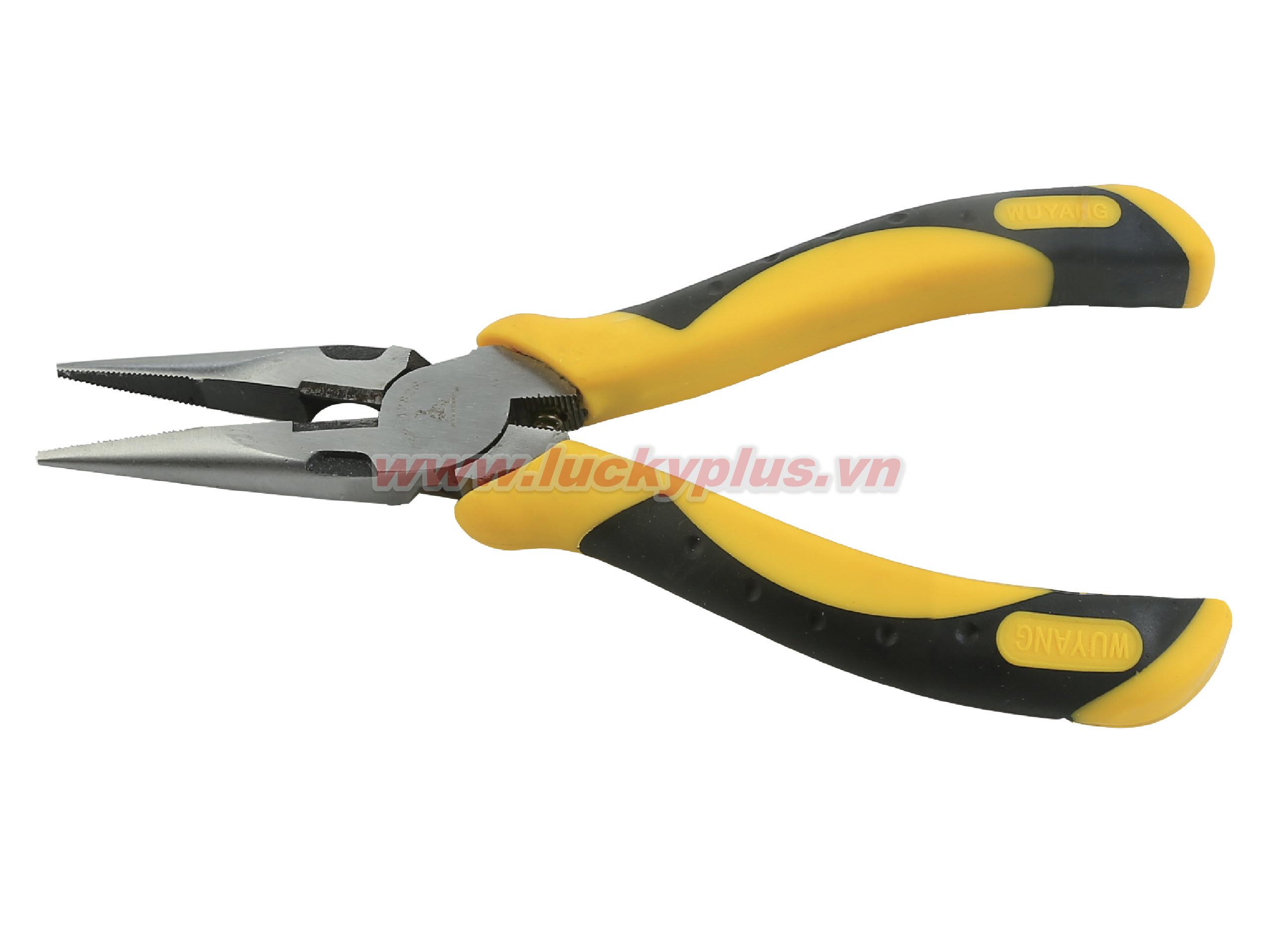 Kìm mũi nhọn mạ Crom 6 inch FiveSheep FS-12826 6''/160mm, FS-12828 8''/200mm