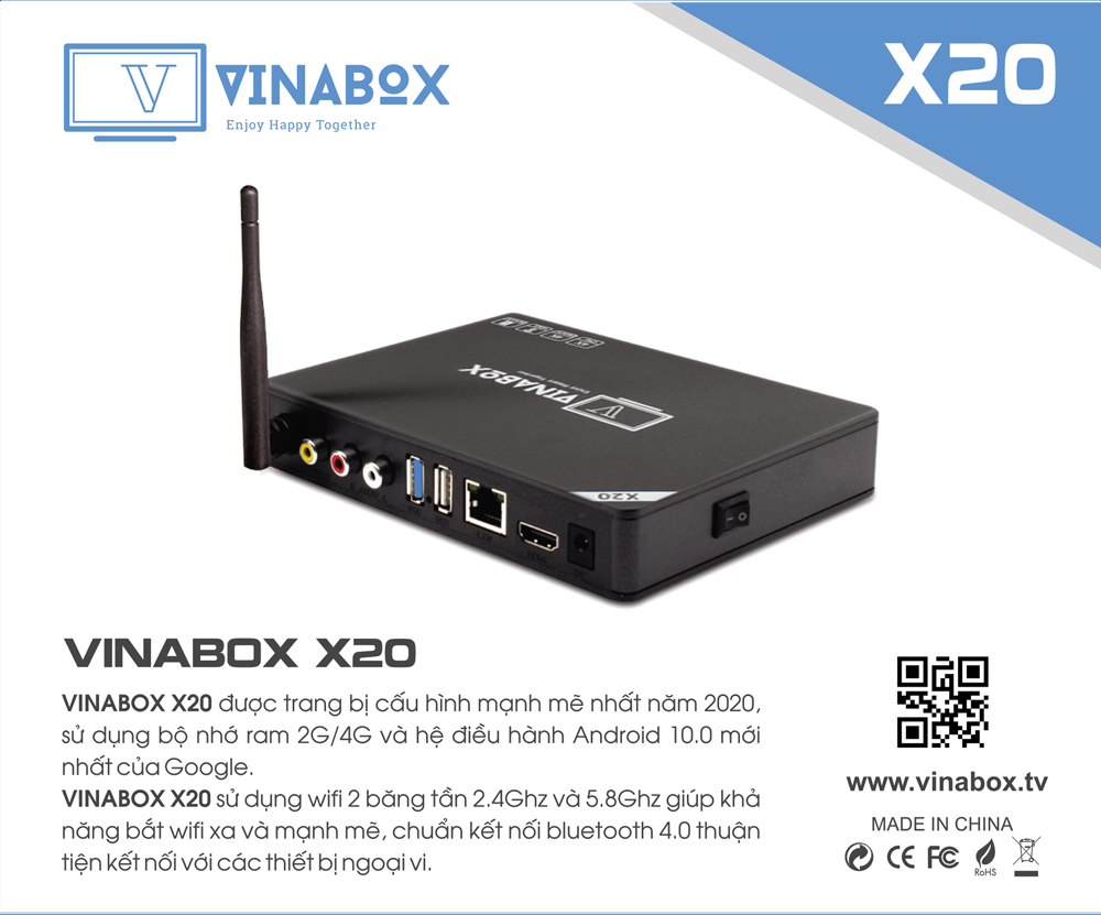 VINABOX X20 BẢN 4G