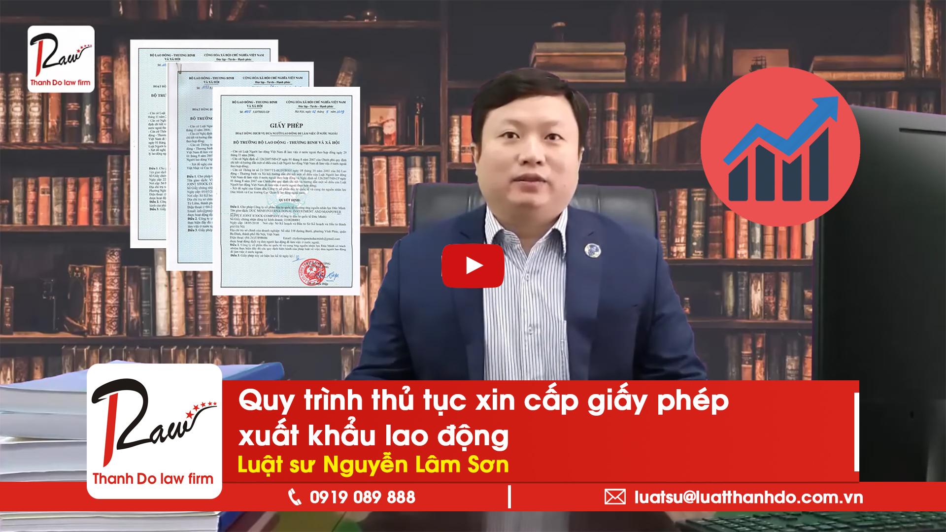 Quy trình thủ tục xin cấp giấy phép xuất khẩu lao động