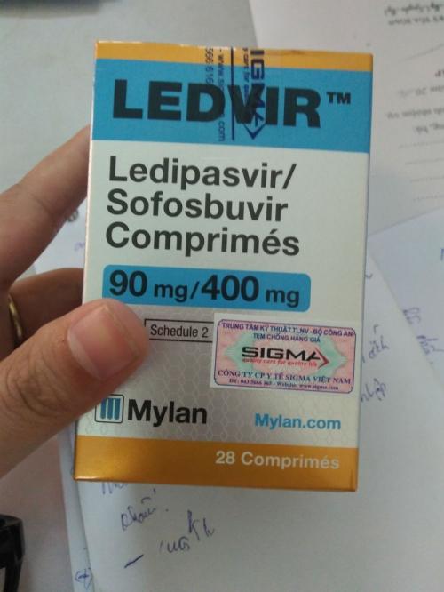 Thuốc Ledvir (Ledipasvir/Sofosbuvir) chính hãng đã có mặt tại Việt Nam