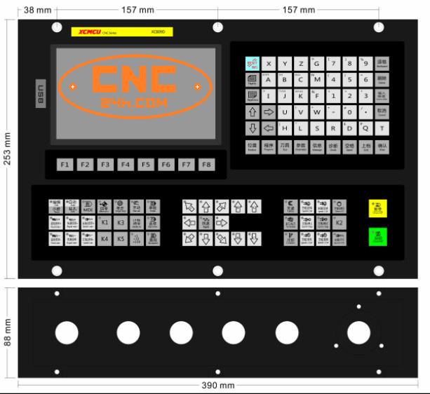 Bảng điều khiển máy phay CNC