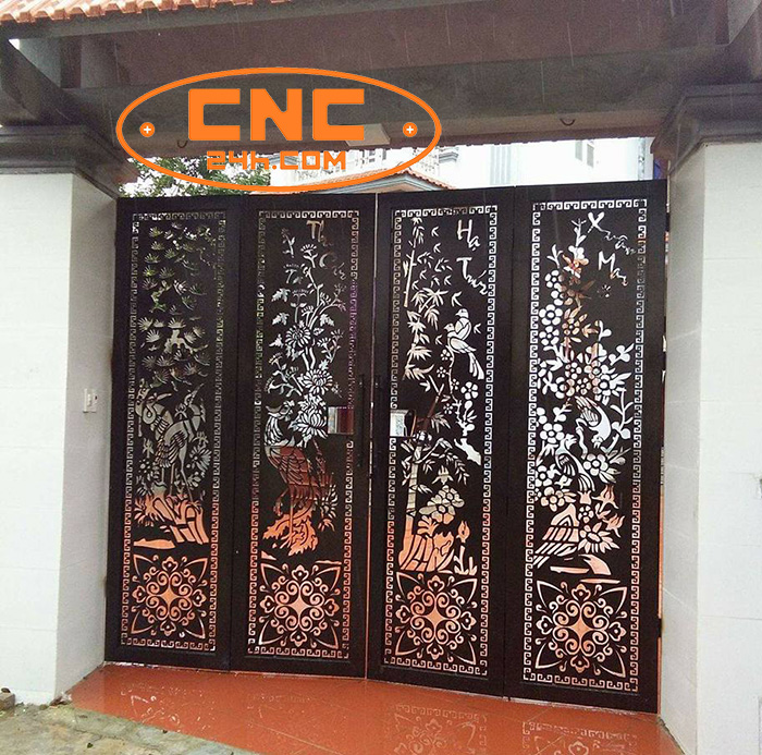 Cắt CNC cổng sắt tại Hà Nội