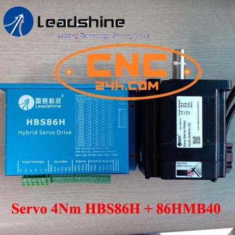 4Nm Leadshine Driver HBS86H + Động cơ 86HBM40