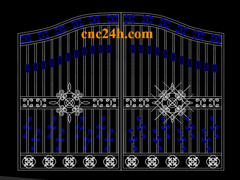 Mẫu cắt Plasma CNC cổng biệt thự 4