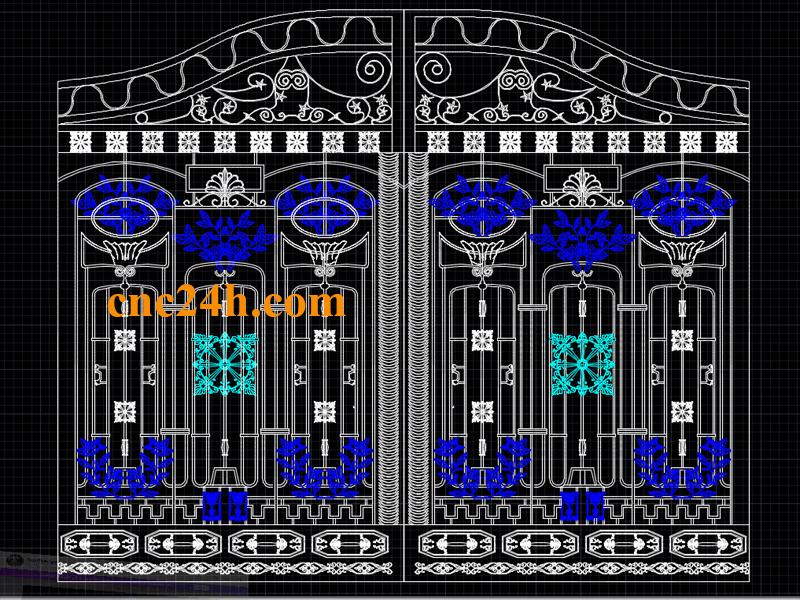 Mẫu cắt Plasma CNC cổng biệt thự 2