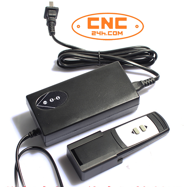Nguồn DC và remote điều khiển xilanh điện