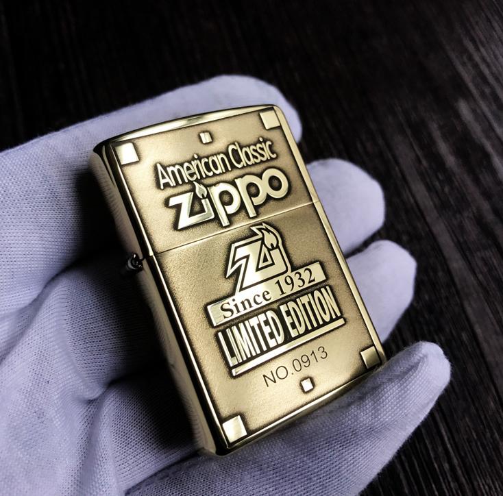 Zippo Armor 1932 giới hạn 1000 con đồng thau 4