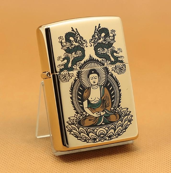 Zippo Phật mạ vàng 24k 1