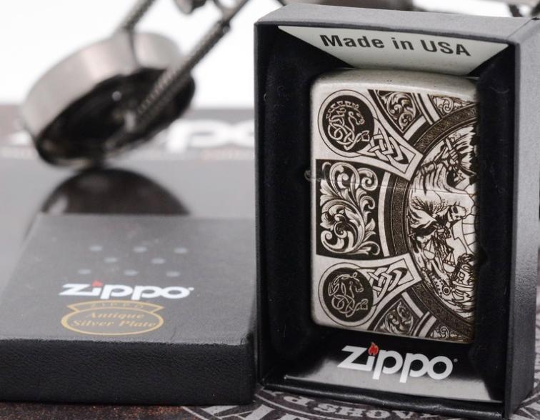Zippo Bốn kị sĩ của Khải huyền bạc giả cổ