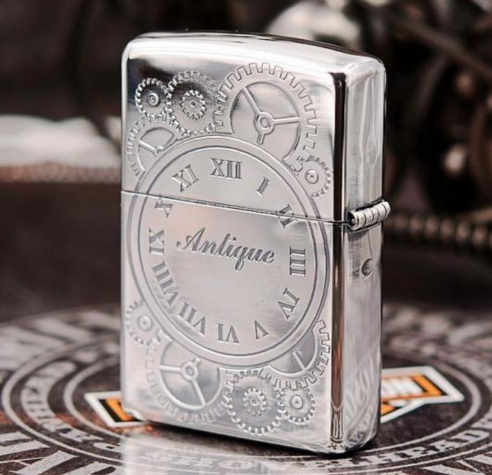 Zippo đồng hồ số Lã Mã bạc giới hạn 1000 con