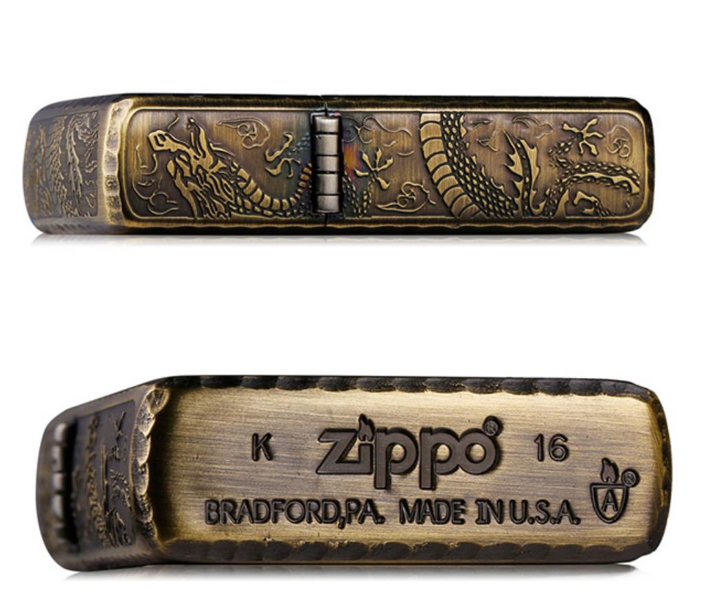 Zippo rồng hông dập nổi giới hạn