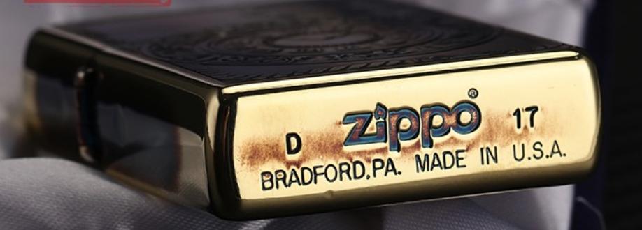 Zippo dập nổi đồng hổ