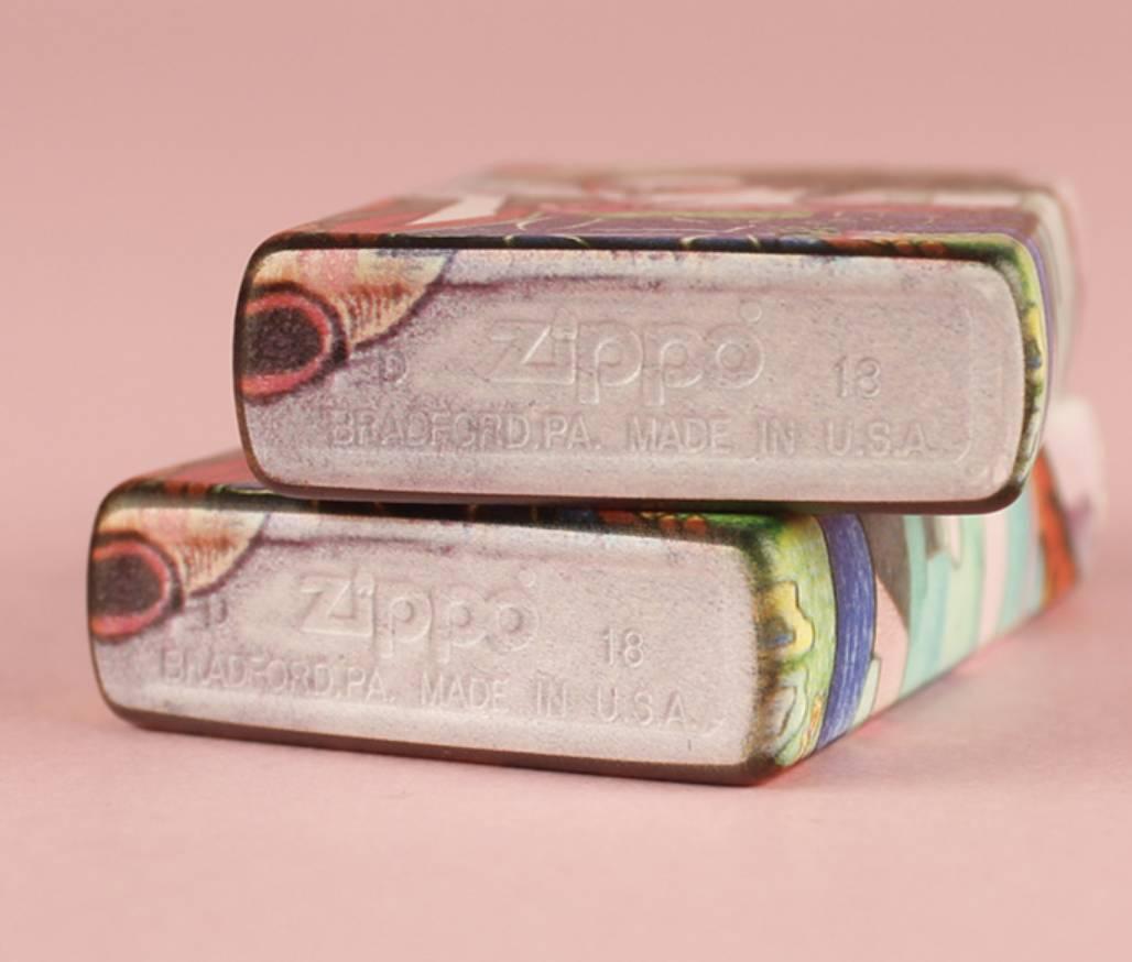 mộc đáy Zippo cô  Nhật bản