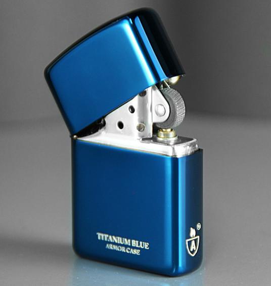 Zippo Titanium Blue Armor đẹp