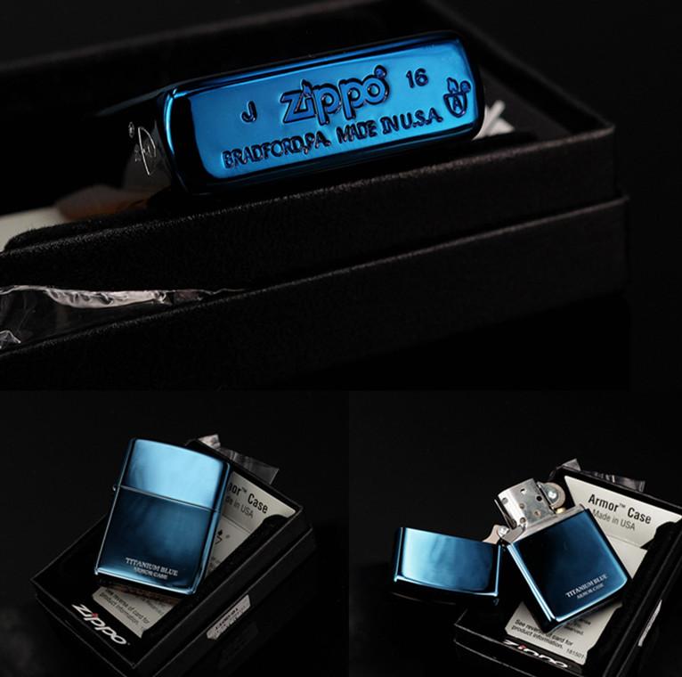 bán Zippo Titanium Blue Armor