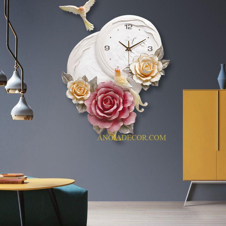 đồng hồ treo tường đẹp hiện đại tphcm