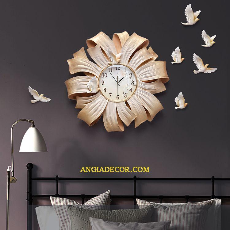 đồng hồ treo tường trang trí phòng khách hà nội