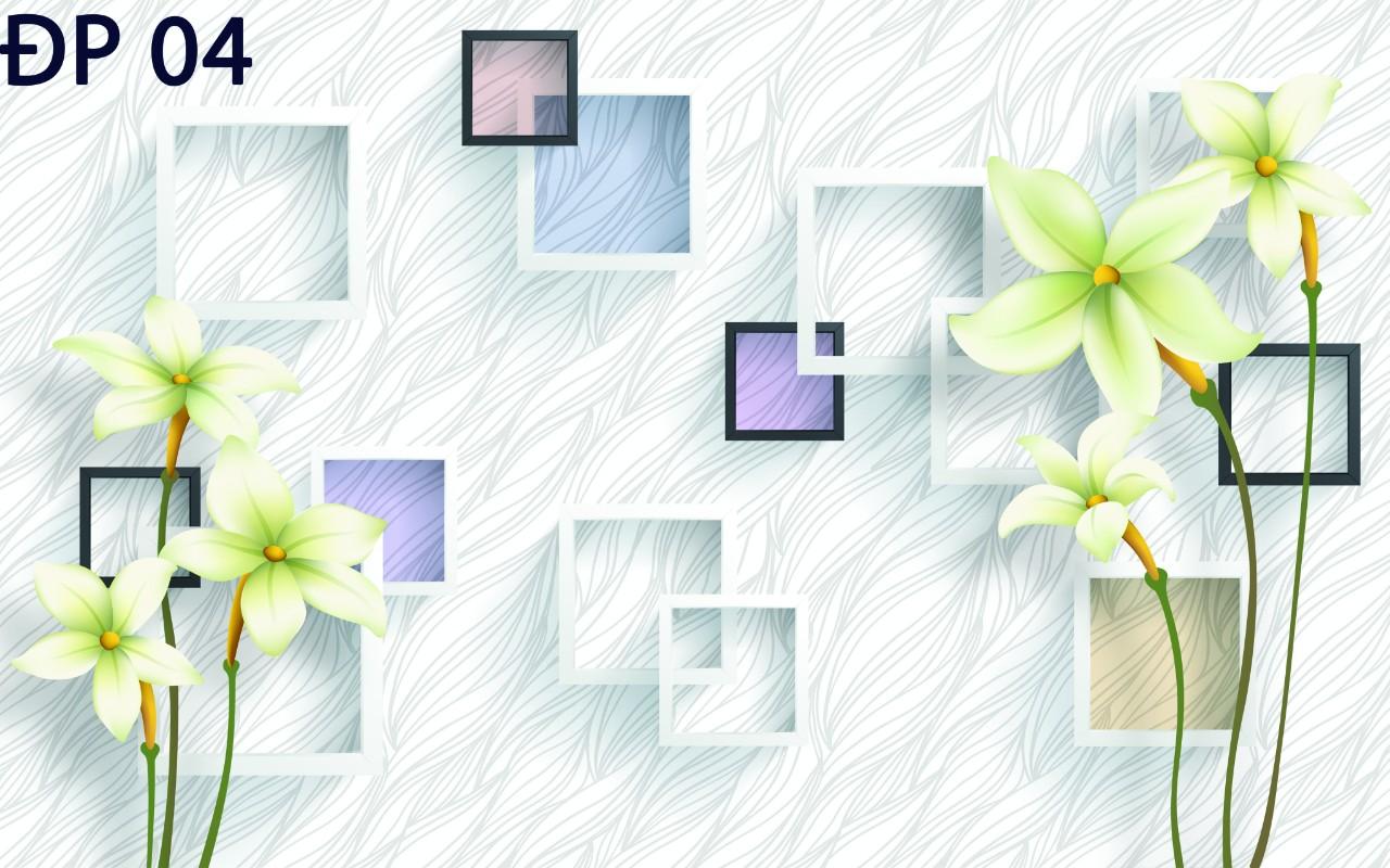 MẪU HOA - MẪU PHONG CẢNH IN PHUN  3D