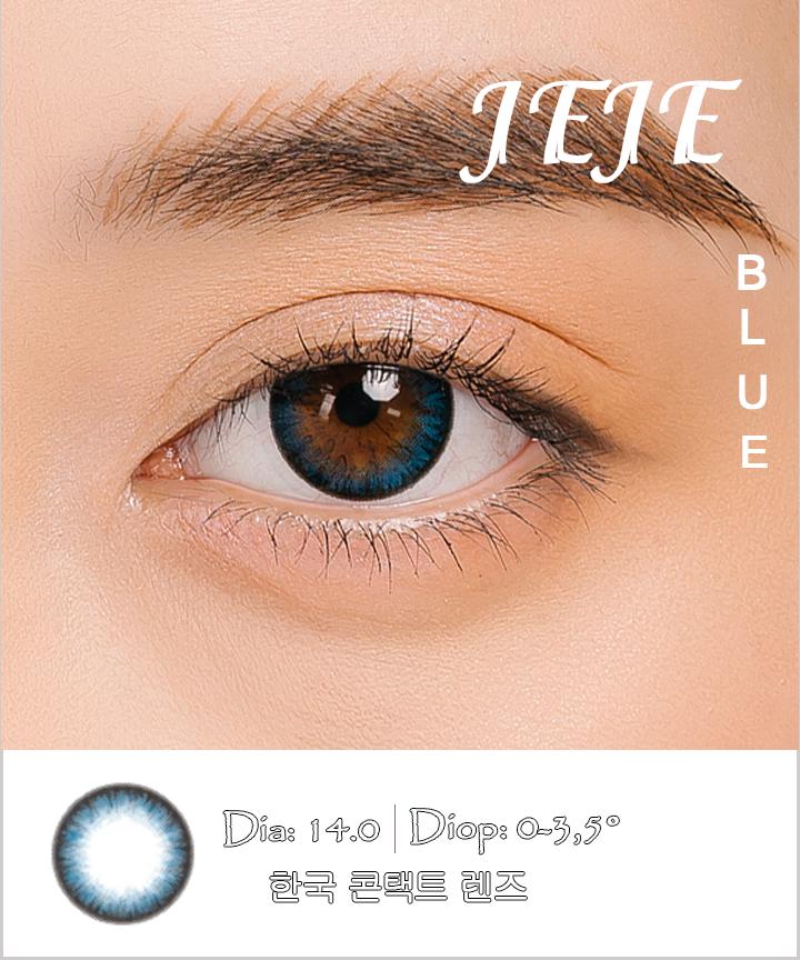 Kính áp tròng JEJE BLUE xanh dương - Lens mắt Hàn Quốc