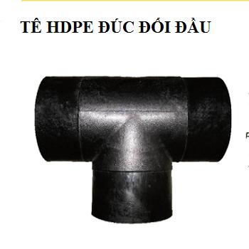 Tê HDPE đúc đối đầu