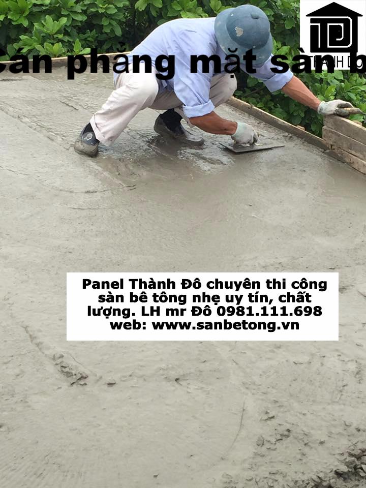 Cán phẳng bề mặt sàn bê tông