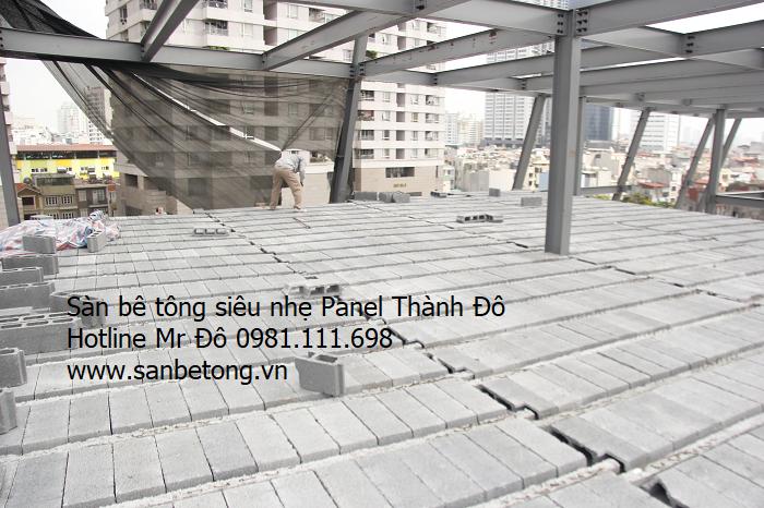 Gạch Block dùng trong thi công sàn bê tông siêu nhẹ