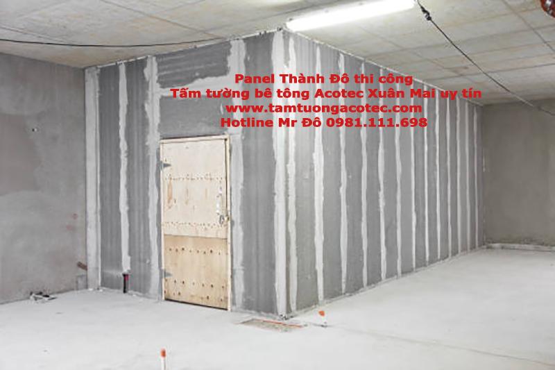 Phân phối thi công tấm tường bê tông lắp ghép Acotec