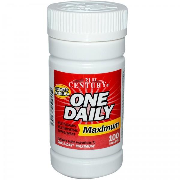 [Date 11/2022] Vitamin Tổng Hợp One Daily Maximum made USA dành cho nam và nữ 100 viên