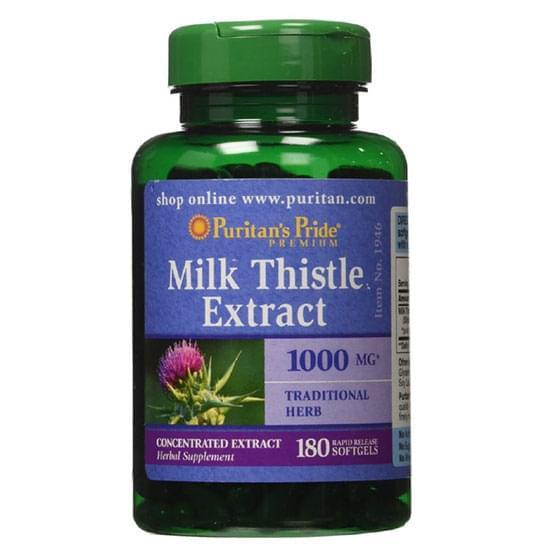 [Date 08/2023] Hỗ trợ cho gan Milk Thistle 1000mg Puritan Pride 180 viên