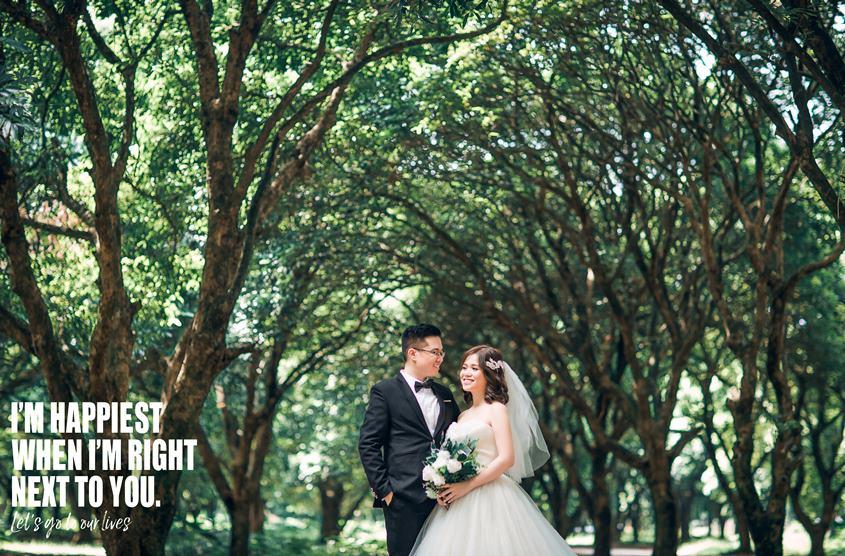 Chụp ảnh cưới ở Vườn Nhãn Gia Lâm đẹp tự nhiên, hot nhất 2020: cặp Vũ - Phượng