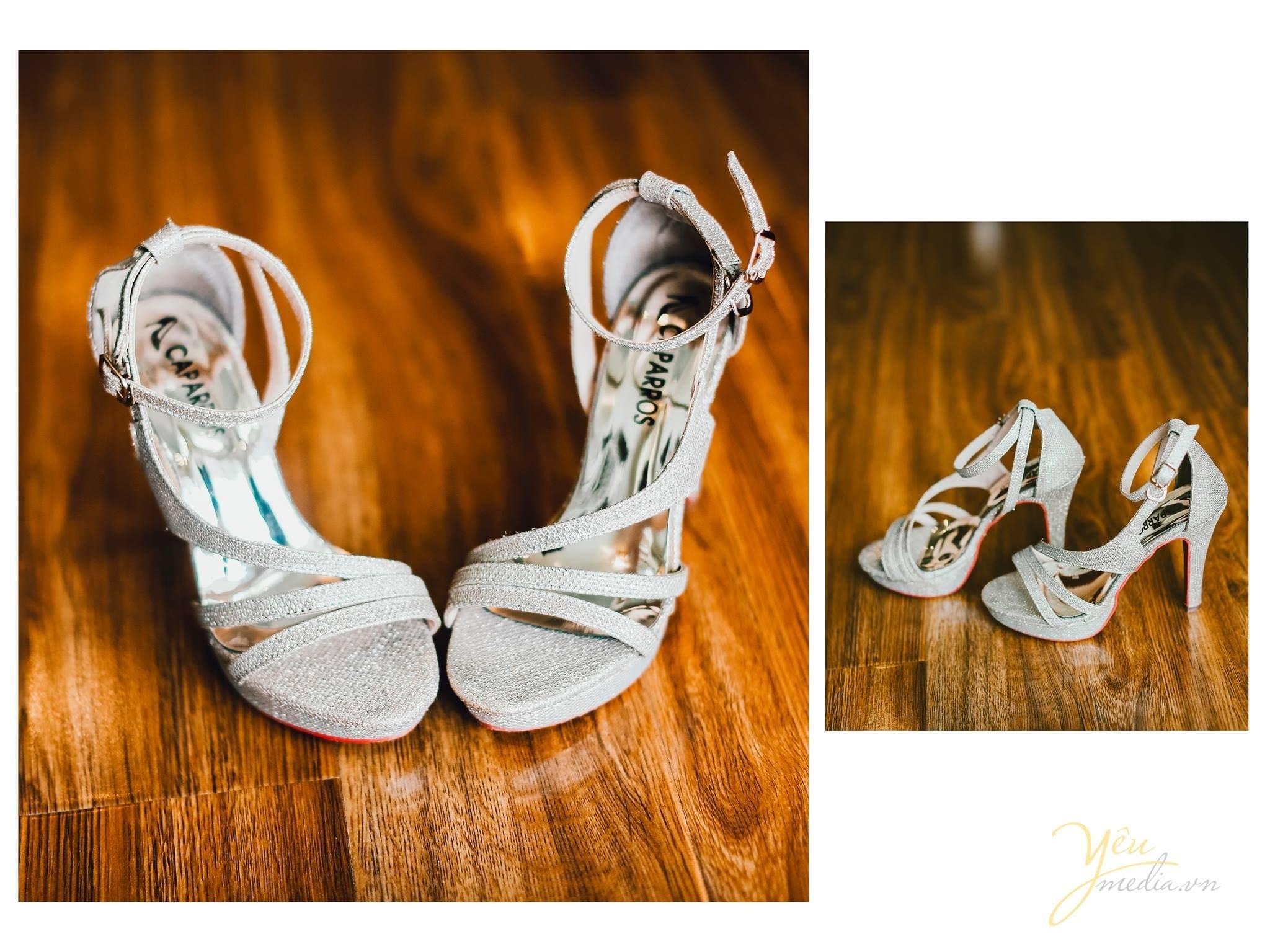 phóng sự cưới chụp giày cô dâu trước giờ đón dâu