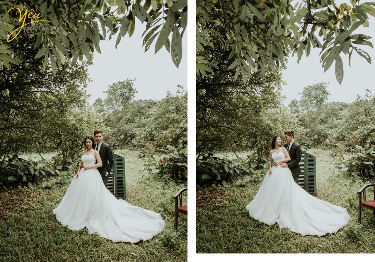 ảnh cưới ngoại cảnh chụp vườn nhãn vĩnh tuy