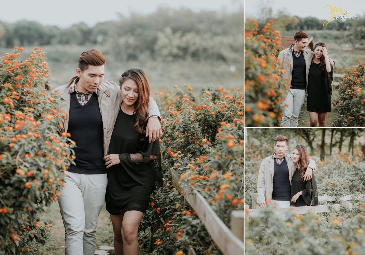 ảnh cưới chụp rừng hoa ngũ sắc