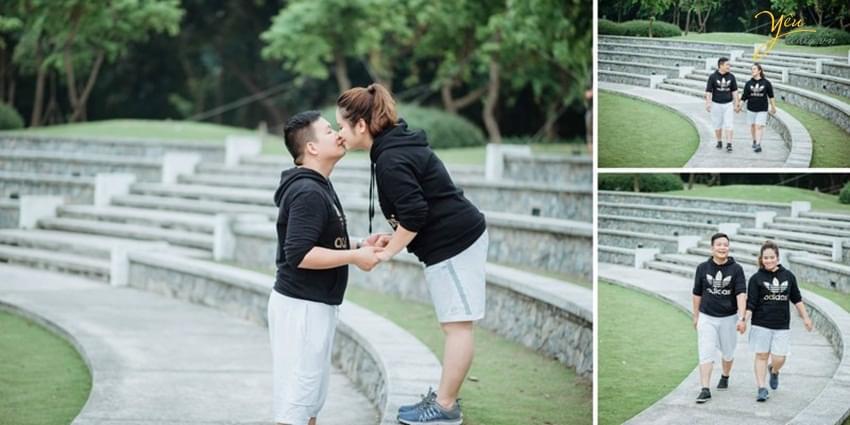 Ảnh cưới chụp ở công viên Yên Sở