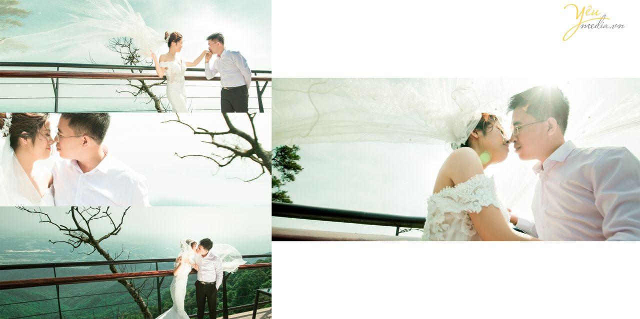 ảnh cưới đẹp chụp tại quán gió tam đảo
