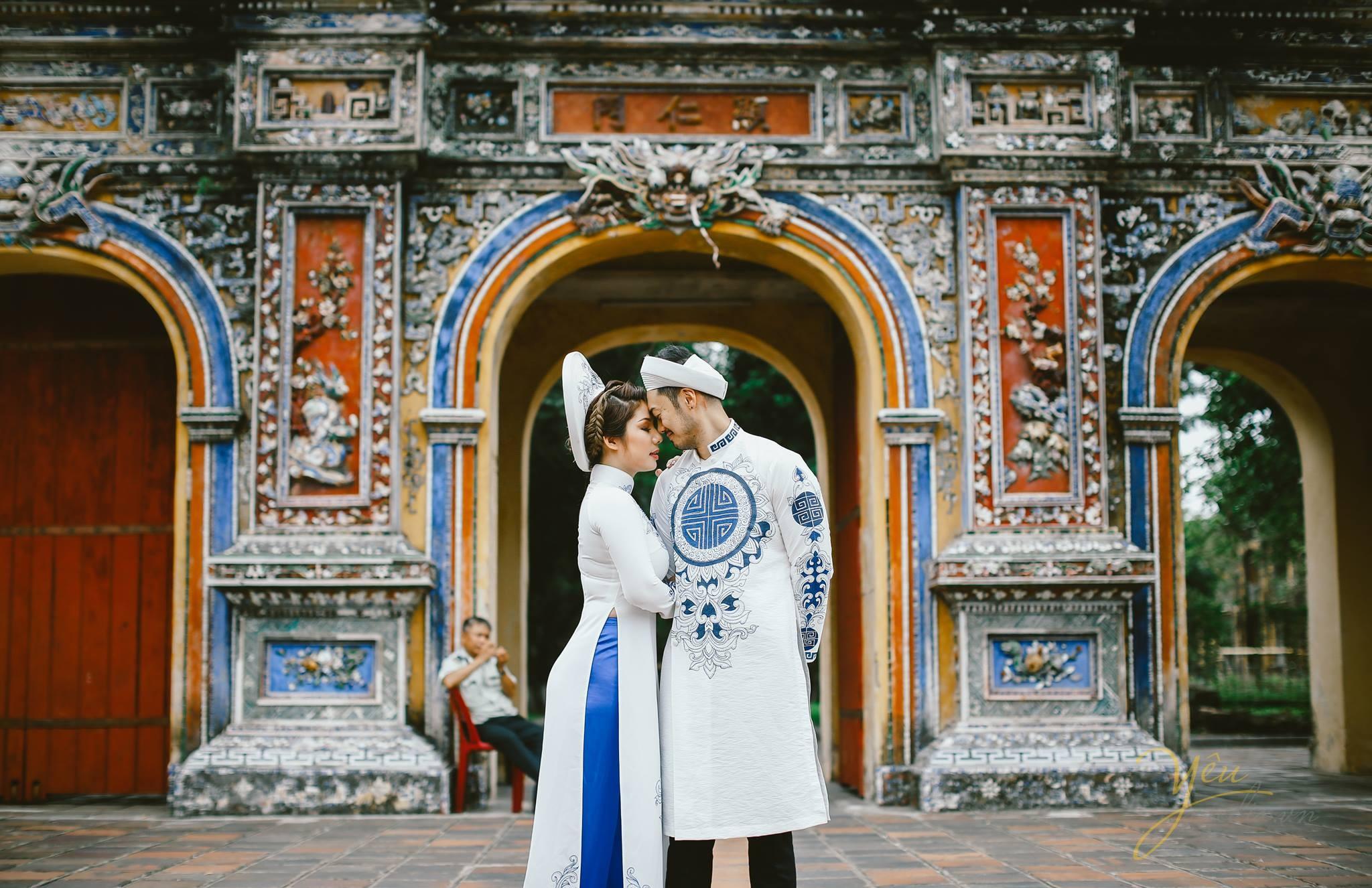 bộ ảnh cưới áo dài tuyệt đẹp tại cầu Trường Tiền