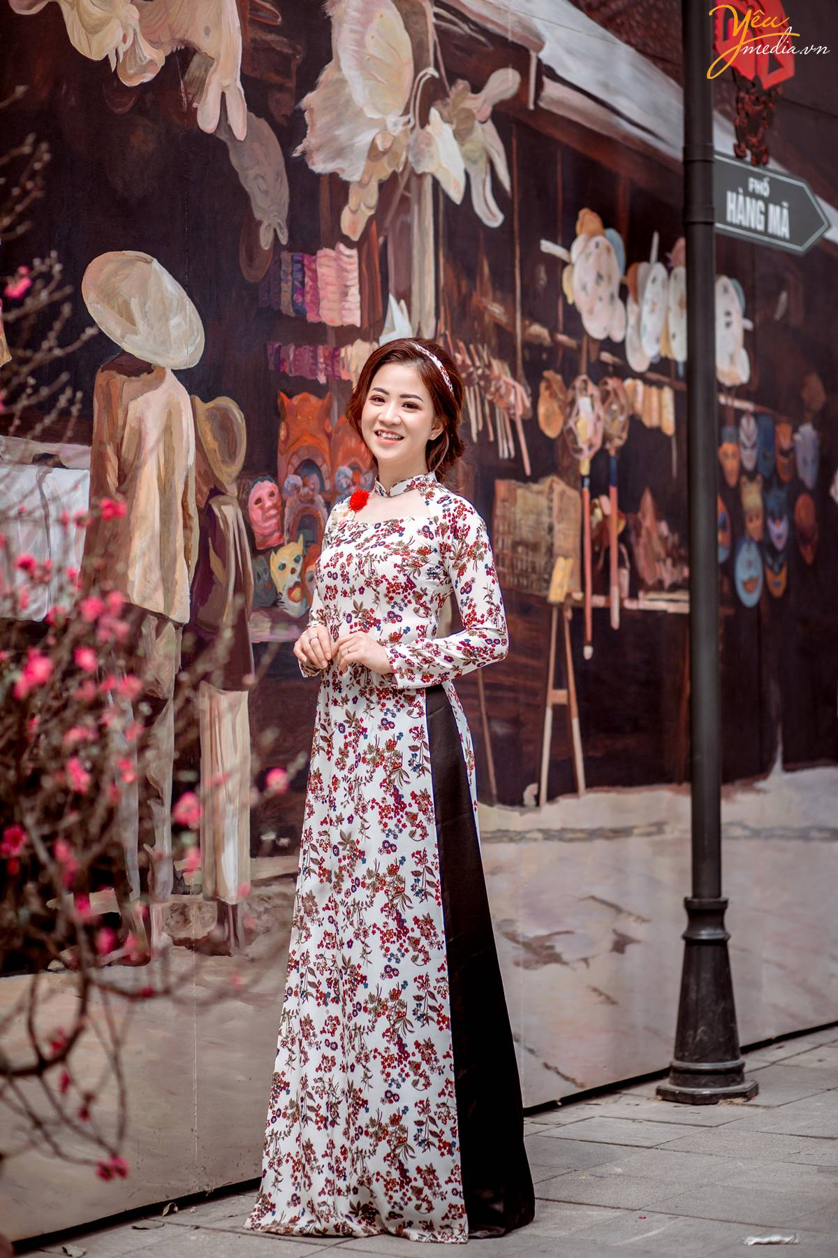 Kết quả hình ảnh cho vườn ảnh tết ở Phố bích họa Phùng Hưng