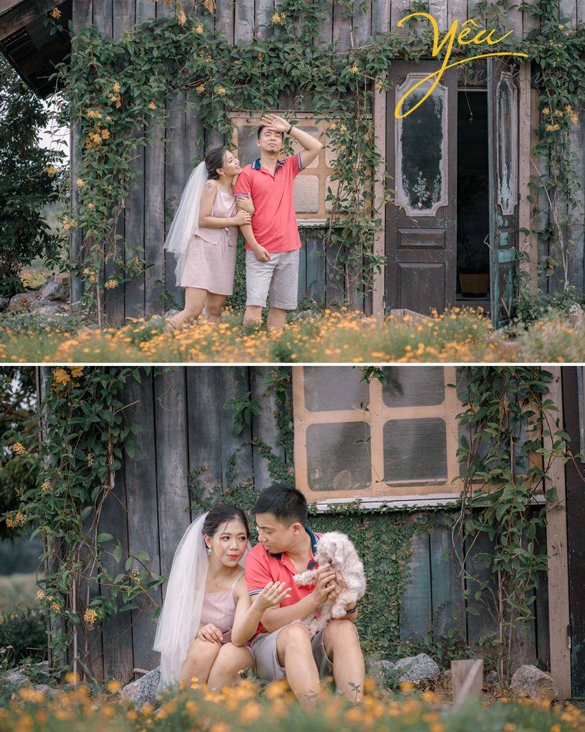 Trọn gói chụp ảnh cưới Cầu Long Biên - thảo nguyên hoa Hà Nội