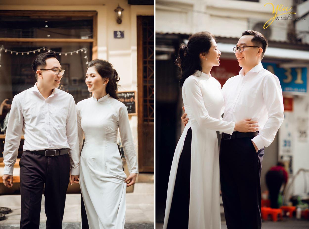 Album ảnh cưới chụp tại quán cà phê Ban Công - Hanoi Hanoi - phim trường: cặp Minh - Tuyết