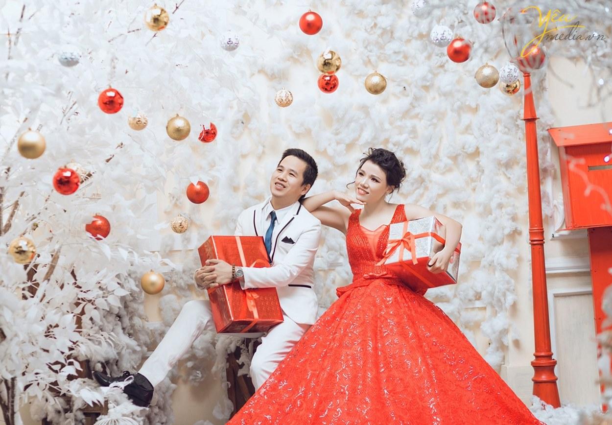 chụp ảnh cưới tại hà nội không khí xmas giáng sinh