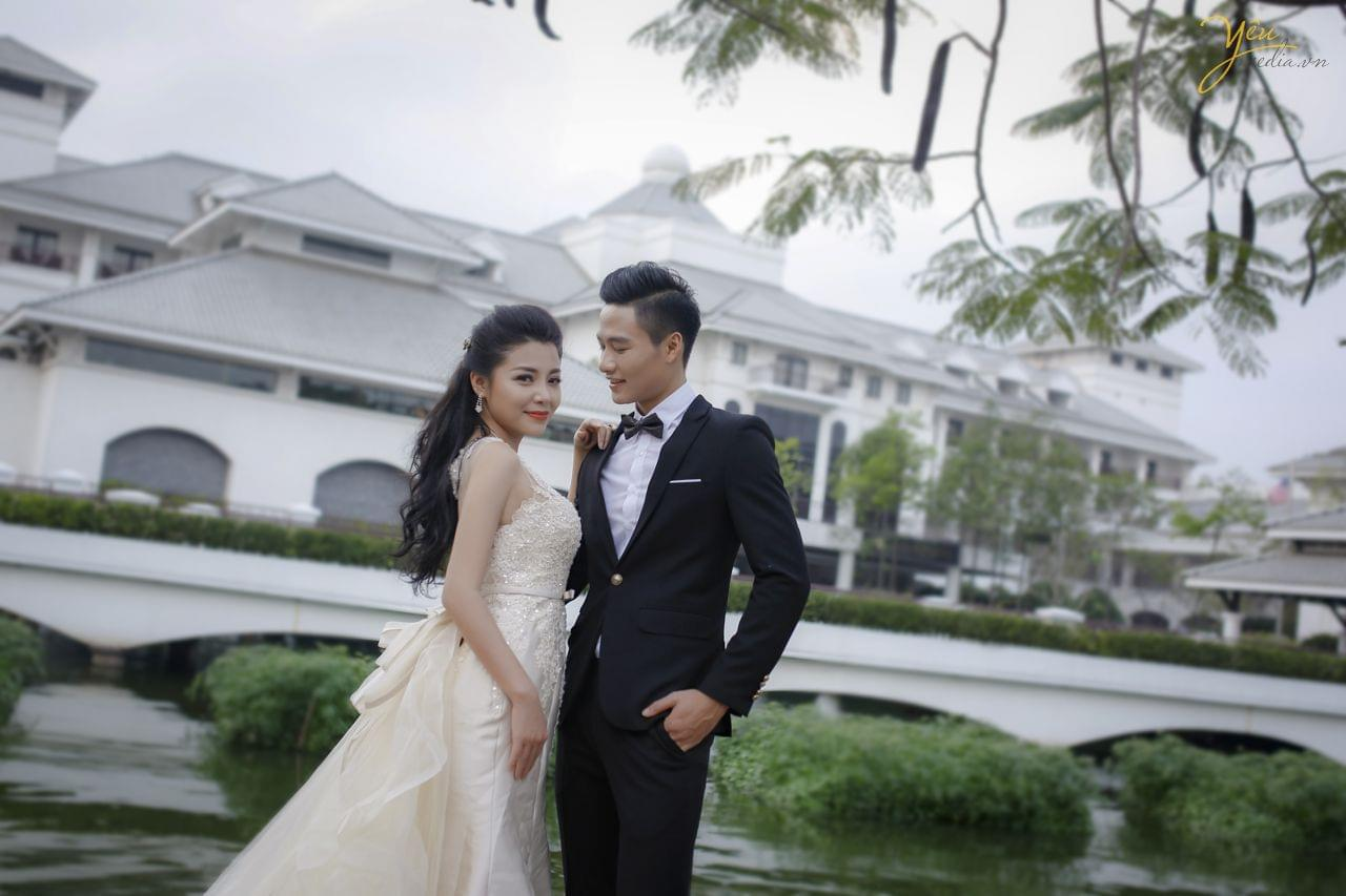 chụp ảnh cưới ngoại cảnh tại khách sạn intercontinental hà nội