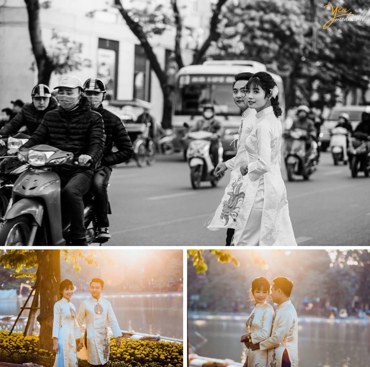 chụp ảnh cưới tại Bờ Hồ