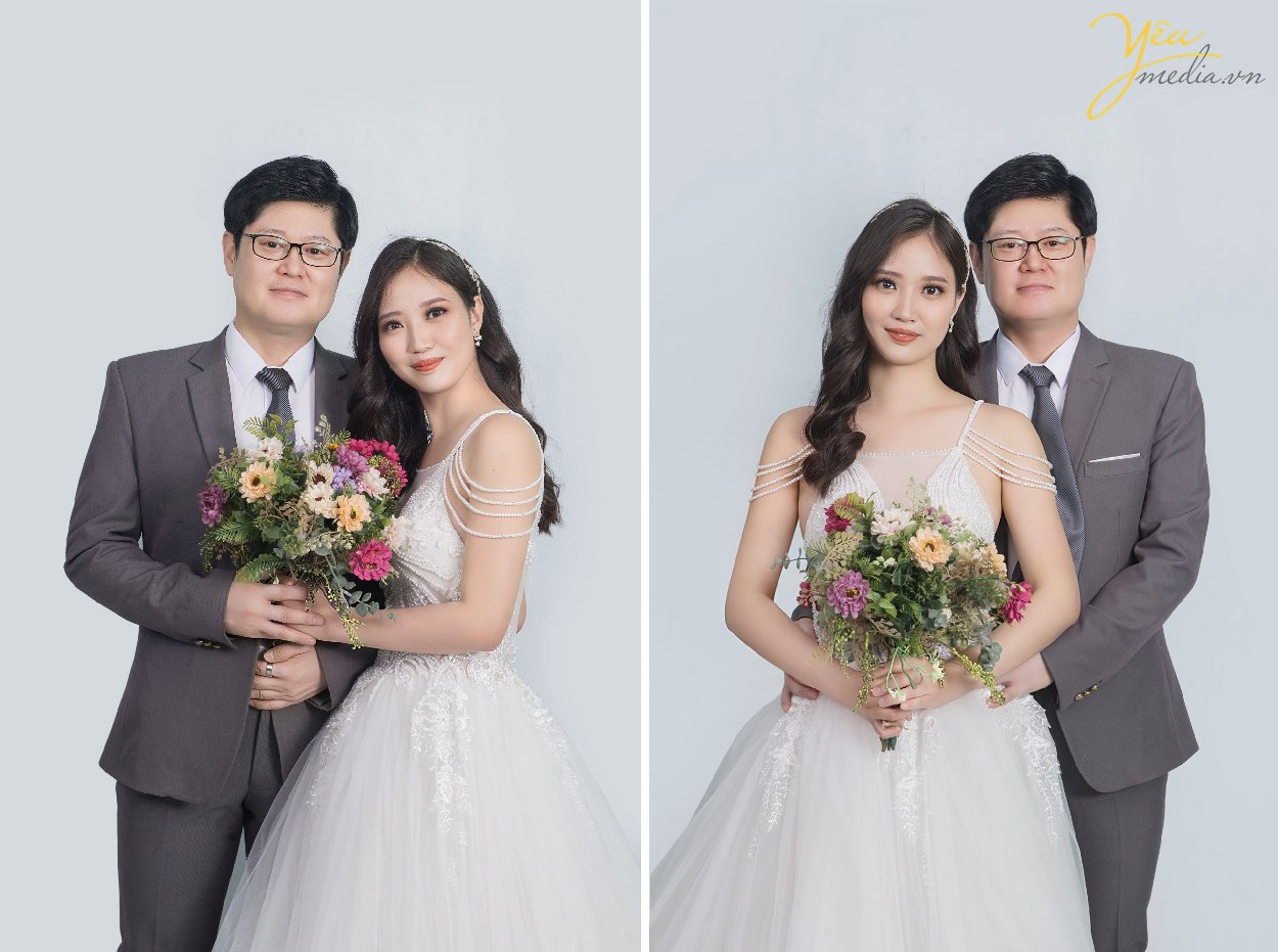 Gói chụp ảnh Studio Love chụp ảnh cho cô dâu chú rể tặng ảnh phóng tại hà nội