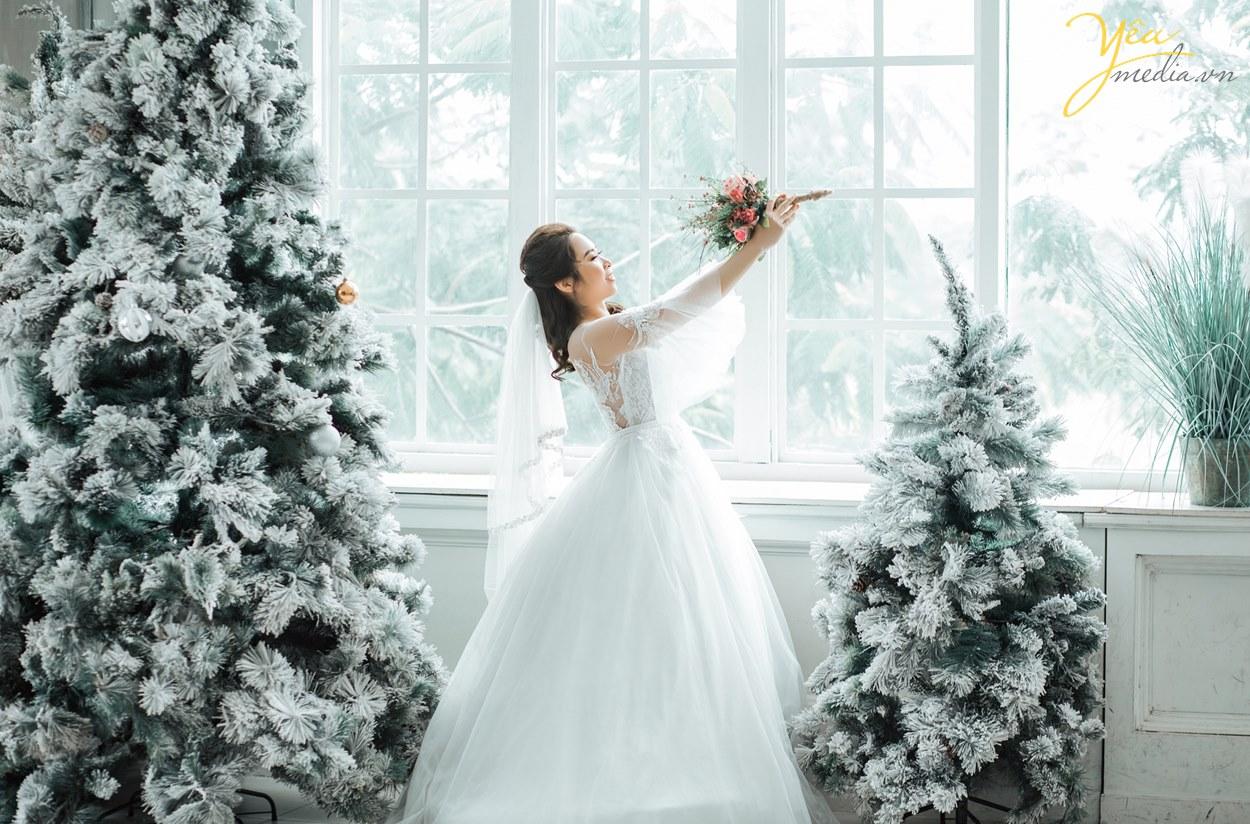 ảnh cưới chụp vào mùa đông có kiêu gì đẹp