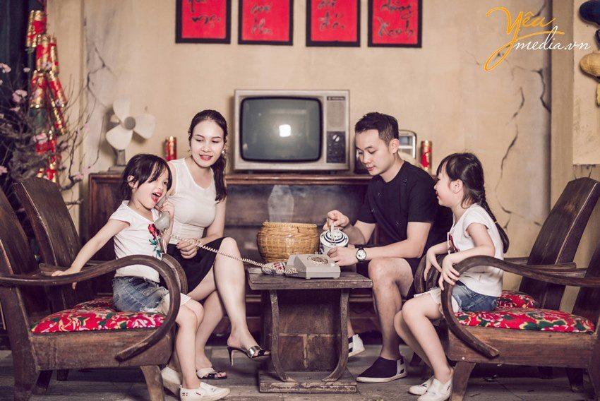 chụp ảnh gia đình dịp Tết