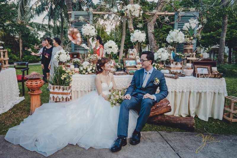 trang trí đám cưới mùa hè