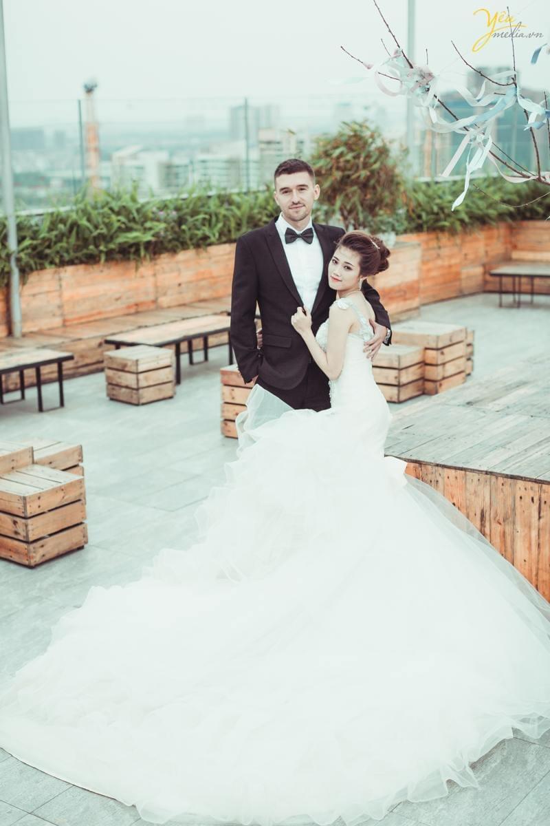 chụp ảnh cưới Trill Rooftop cafe