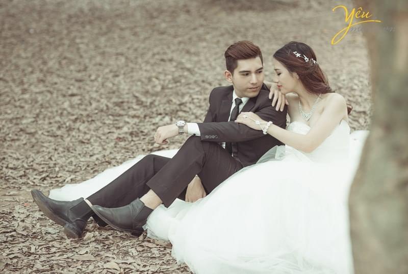 chụp ảnh cưới vườn nhãn Vĩnh Tuy