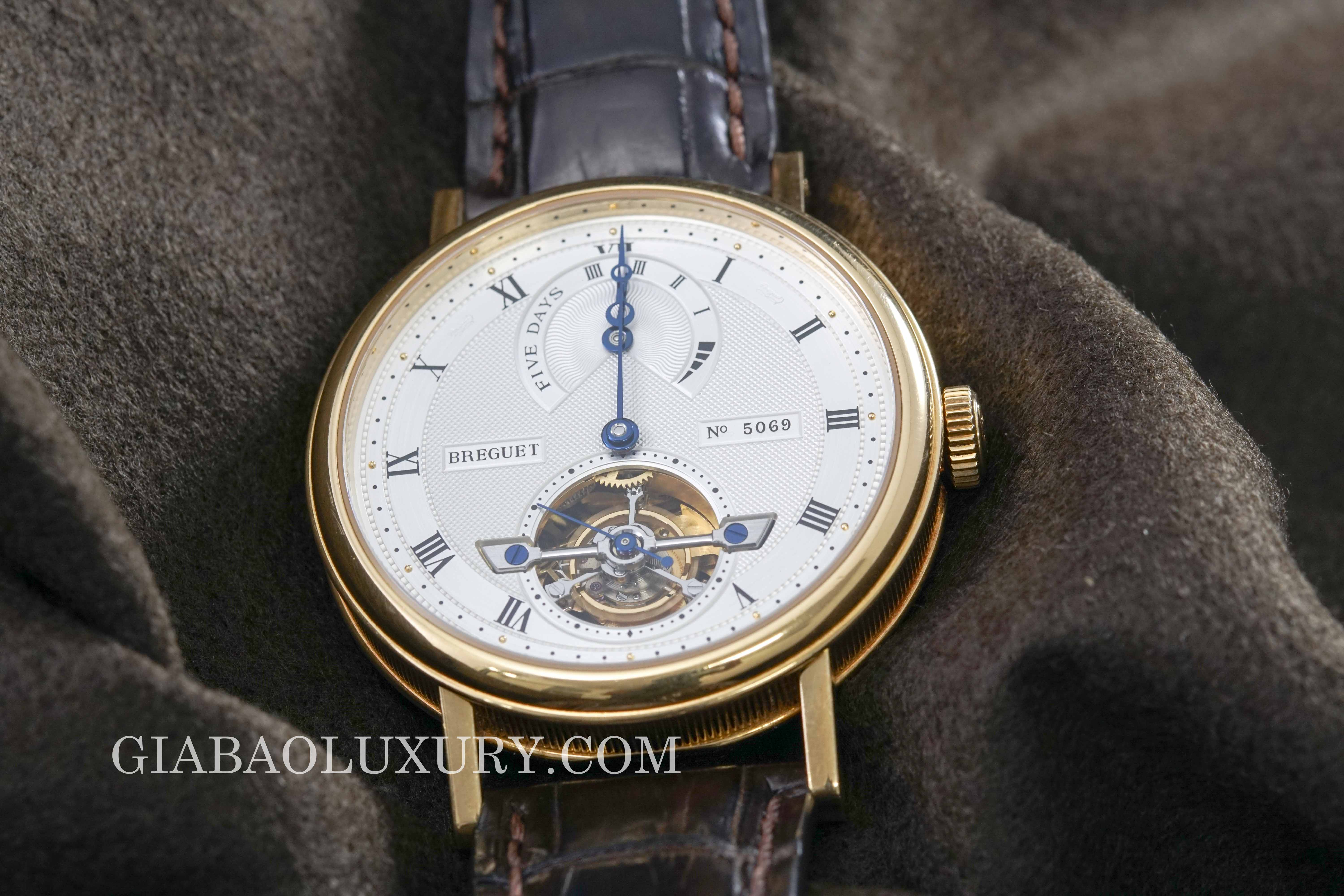 Review đồng hồ Breguet Tourbillon Five Days 5317