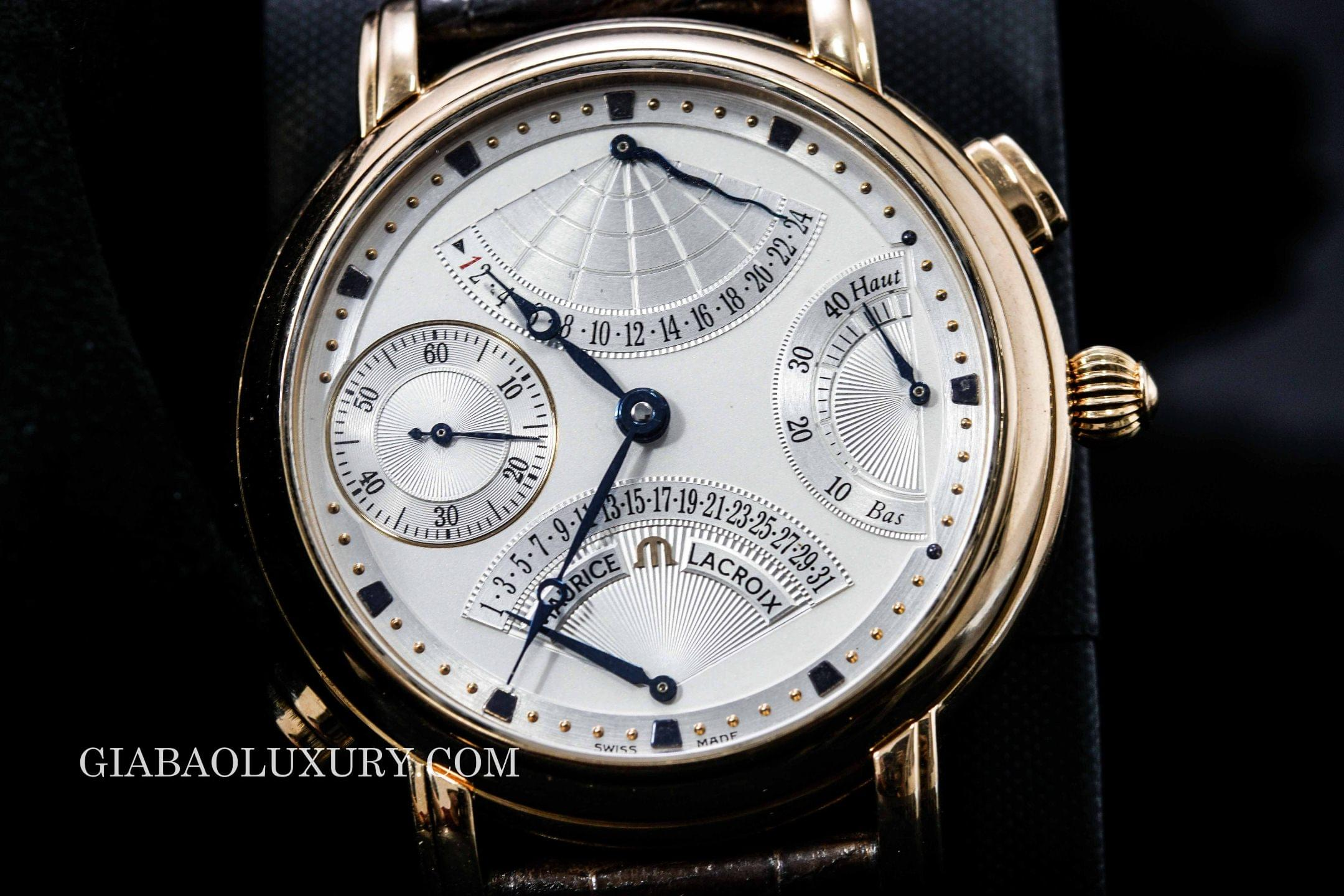 Review đồng hồ Maurice Lacroix Masterpiece Double Retrograde